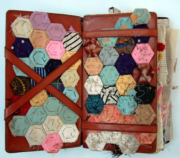 Textile artist Mandy Pattullo - sewn book