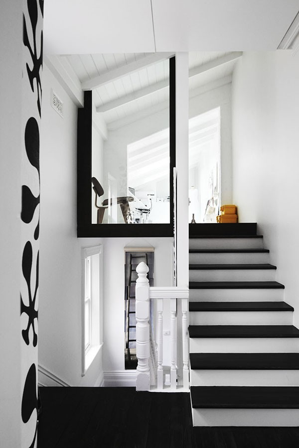 Black and white stairs!
