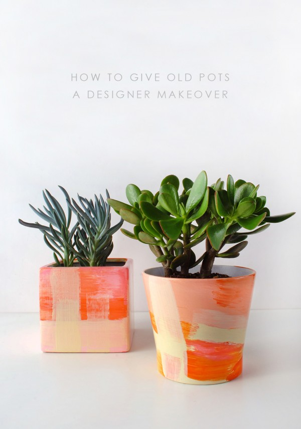 DIY - give old thrifted pots new life a designer makeover