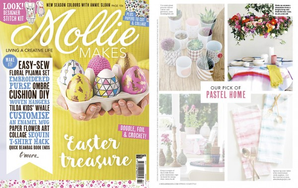 We Are Scout craft tutorial featured in Mollie Makes magazine March 2016
