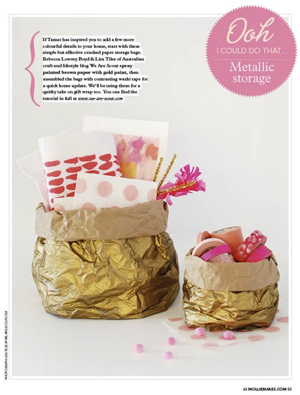 We Are Scout craft tutorial featured in Mollie Makes magazine April 2016