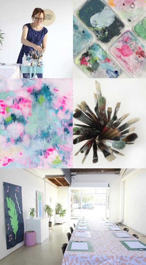 Painting workshops with Australian artist Belinda Marshall
