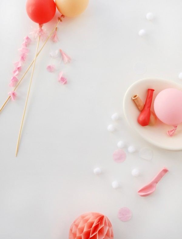 DIY tassel balloons for a cake topper or your next party decorations