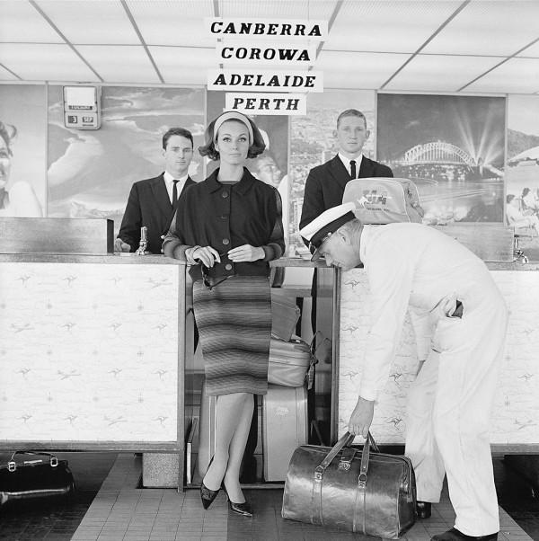 Henry Talbot for Quantas. Vintage Australian fashion photography.