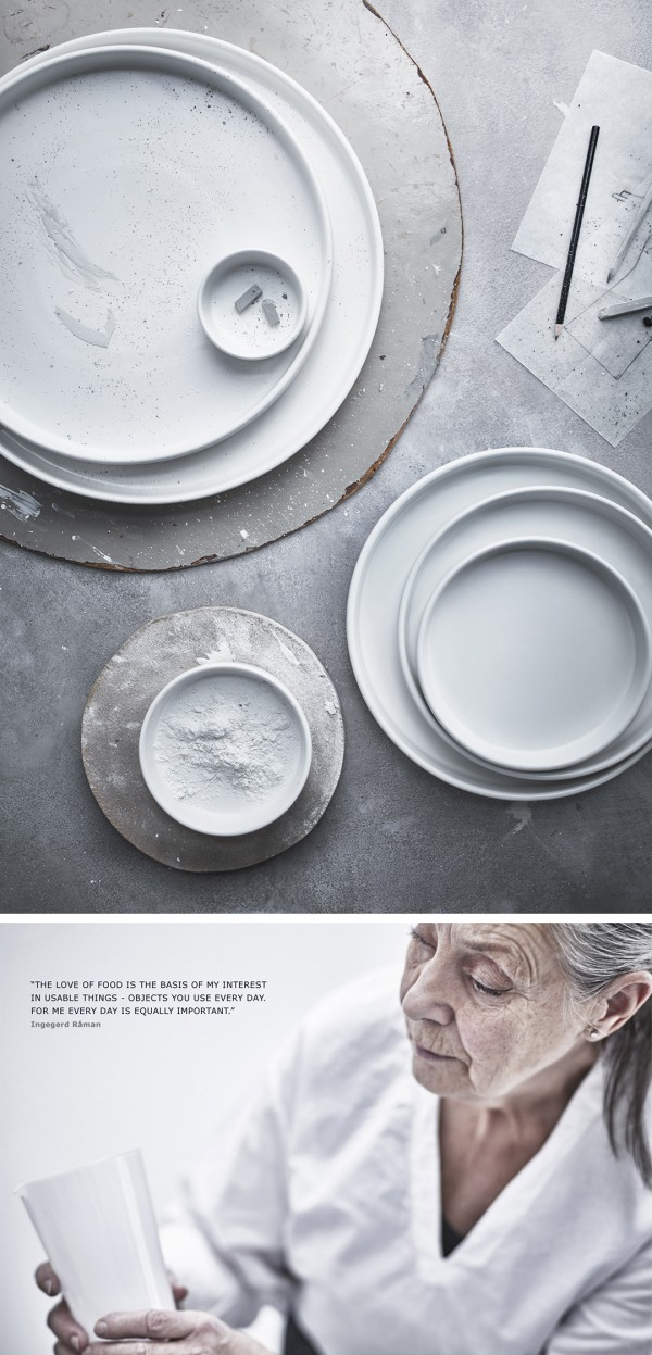 IKEA Viktigk collection white plates