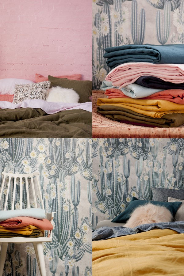 Australian brand Society Of Wanderers range of bed linen