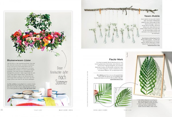 We Are Scout flower chandelier in Ma Vie Magazine