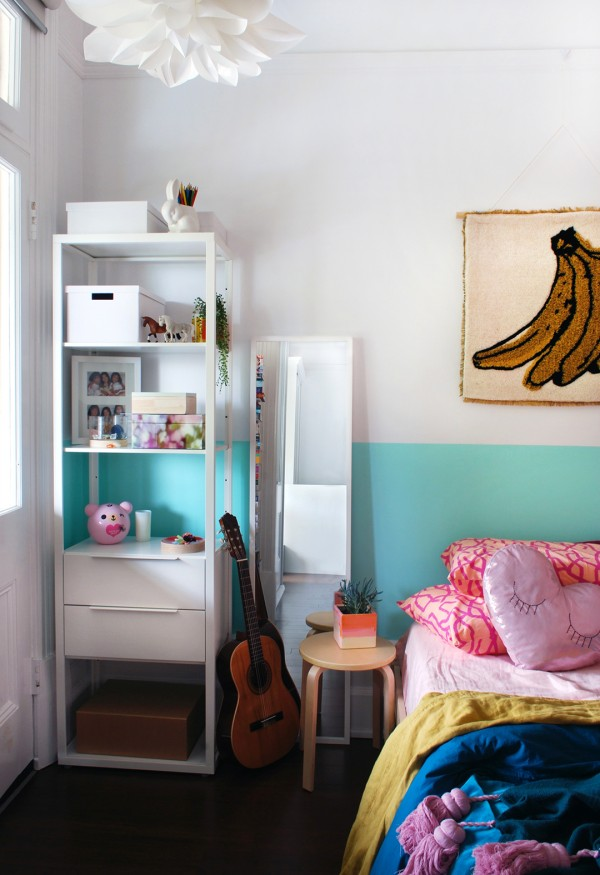 incredible Small Teens Bedroom Part - 4: Makeover of a tiny bedroom for a little girl into a cool teen retreat.