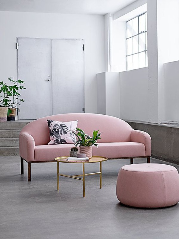 Get On Board With A Soft Pink Sofa