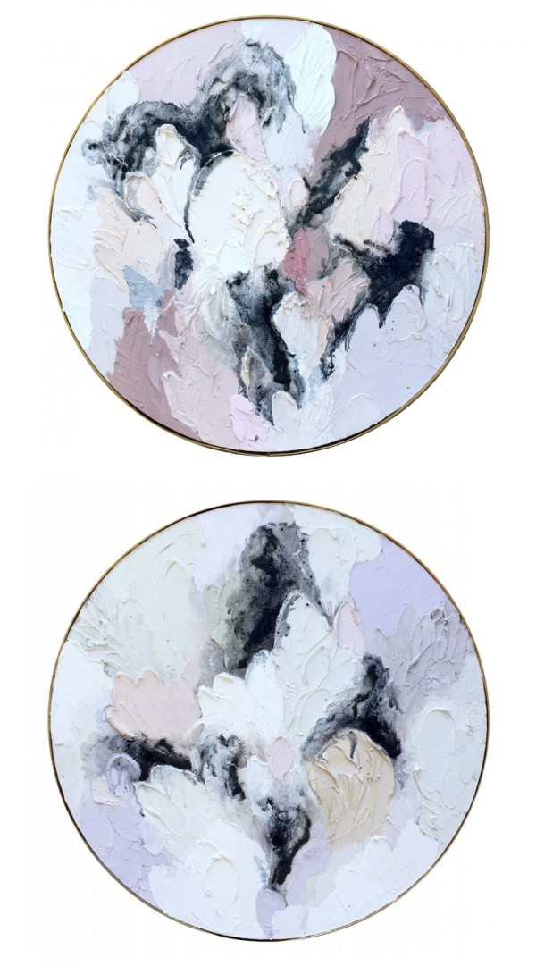 Lisa Madigan circular paintings