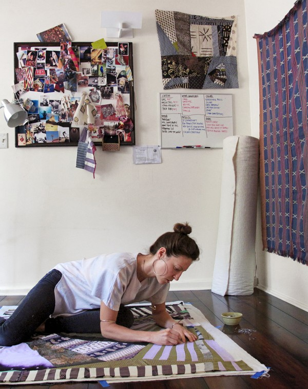 Pauline Boyd of Counterpane in her studio
