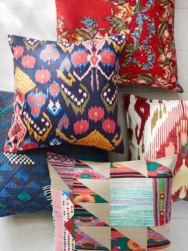 Textile homewares by Pauline Boyd of Counterpane for Pottery Barn