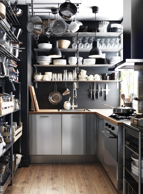 Lots of tips and advice on how to work with the limited space in a small kitchen