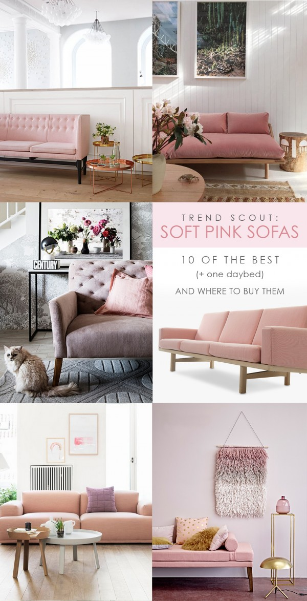 Trend Scout Soft Pink Sofa