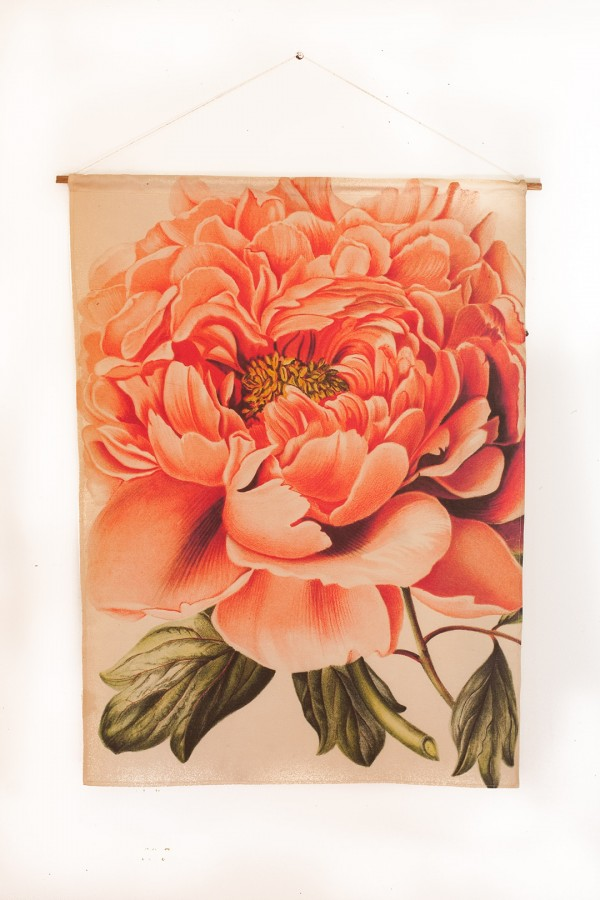 My Bearded Pigeon pink peony fabric wall hangings - on Etsy