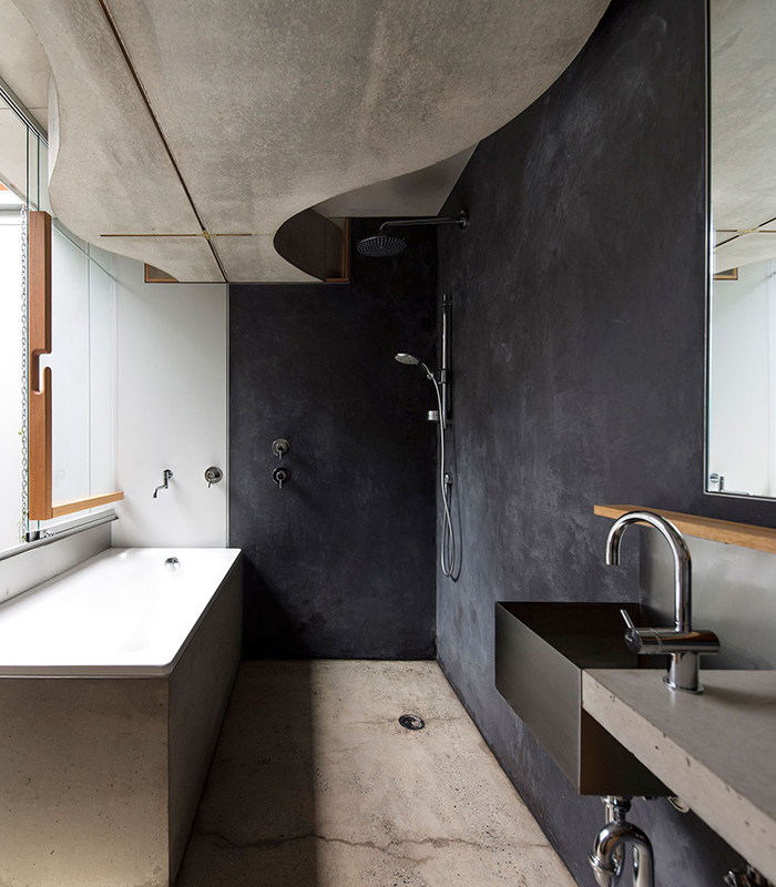 Australian bathroom of the year by Drew Heath Architects. Photography by Brett Boardman.