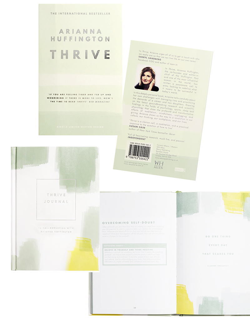 kikki.K Arianna Huffington collaboration - Thrive redesigned and an inspirational journal