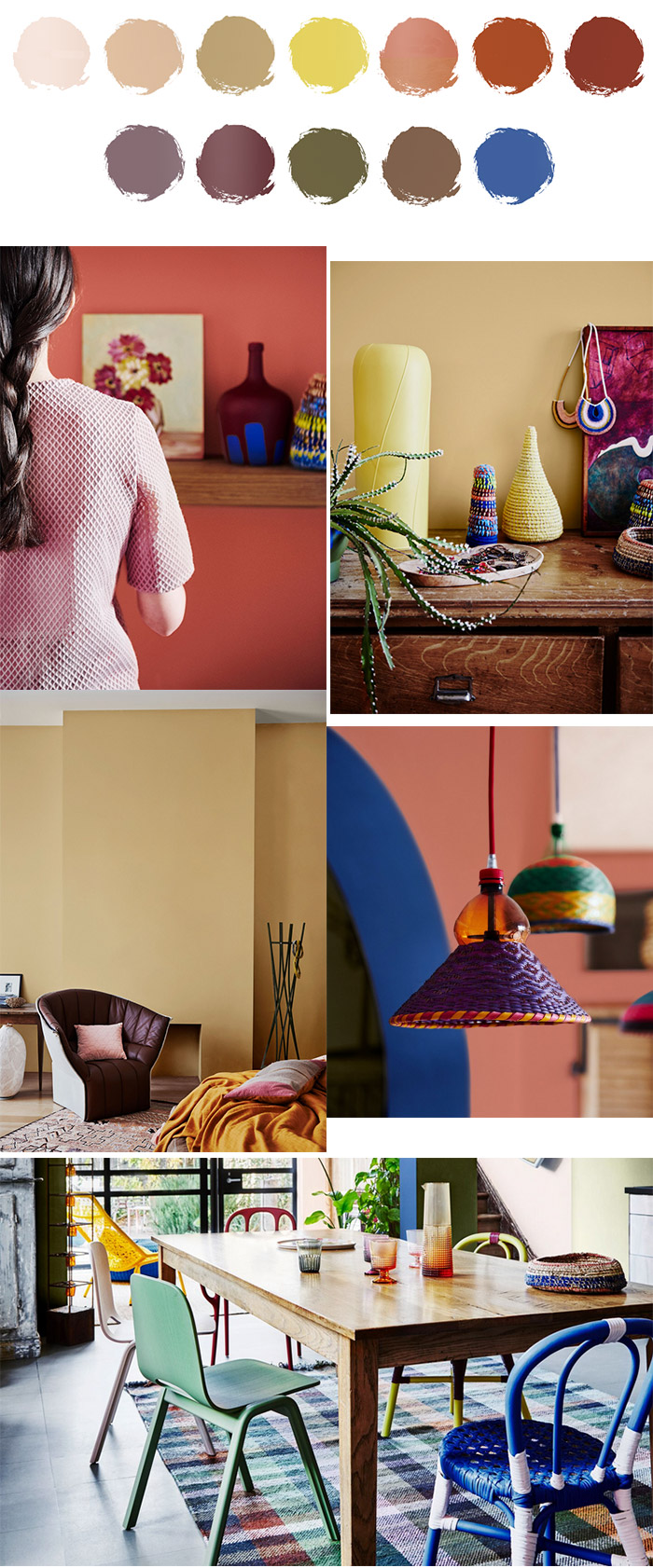 Entwine plaette. First look at interiors colour trends for 2017. Dulux Colour Forecast.