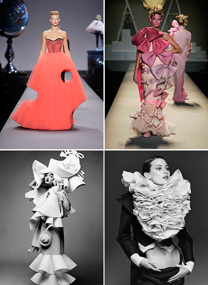 Viktor Horsting and Rolf Snoeren (Viktor&Rolf) gained critical acclaim for their rebellious approach to design, technical virtuosity, and experimental runway shows.