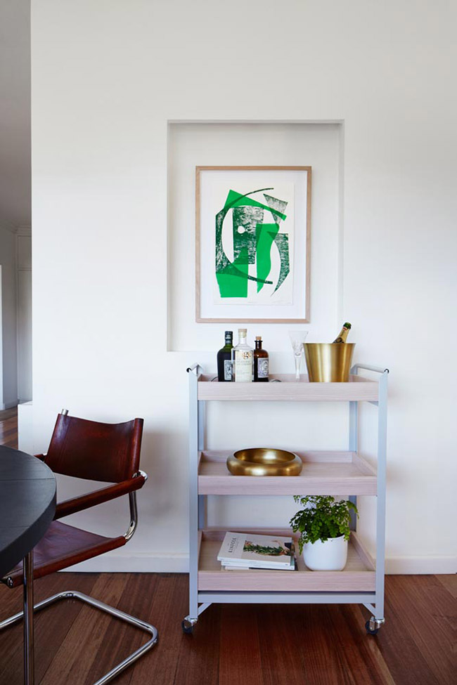 The Lumier Art + Co House on the Mornington Peninsula in Australia. Art and textiles by Emma Cleine.