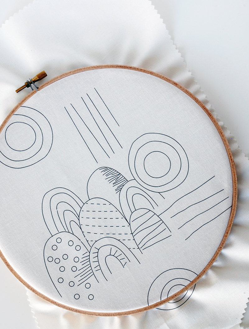Embroidered wall hanging kit. Etsy Make for Good.