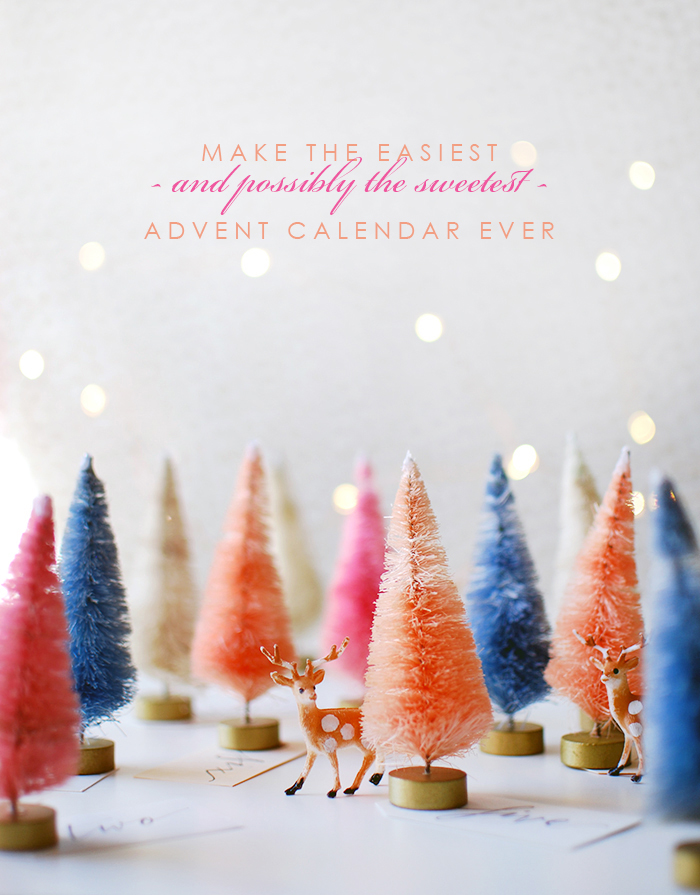 A super sweet, super easy advent calendar that you'll love to display and the kids will love it too.