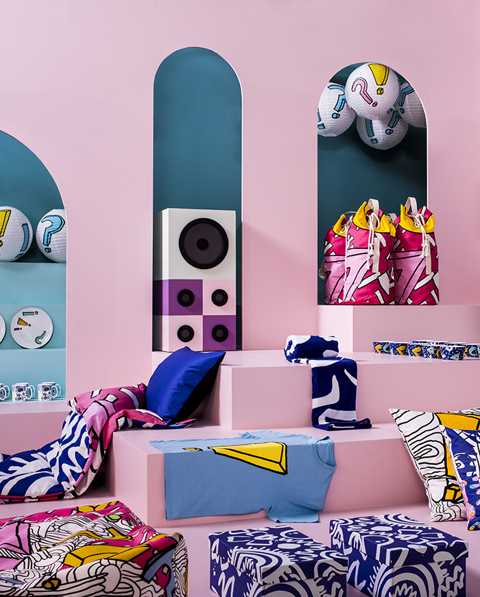 IKEA's new SPRIDD collection designed by British fashion designer Kit Neale.