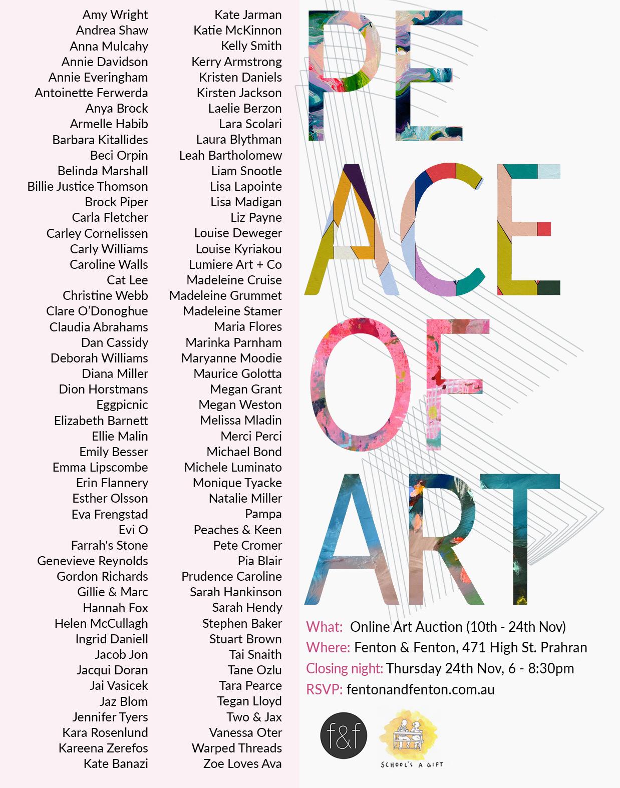Peace of Art 2016 - Australian online art auction for charity