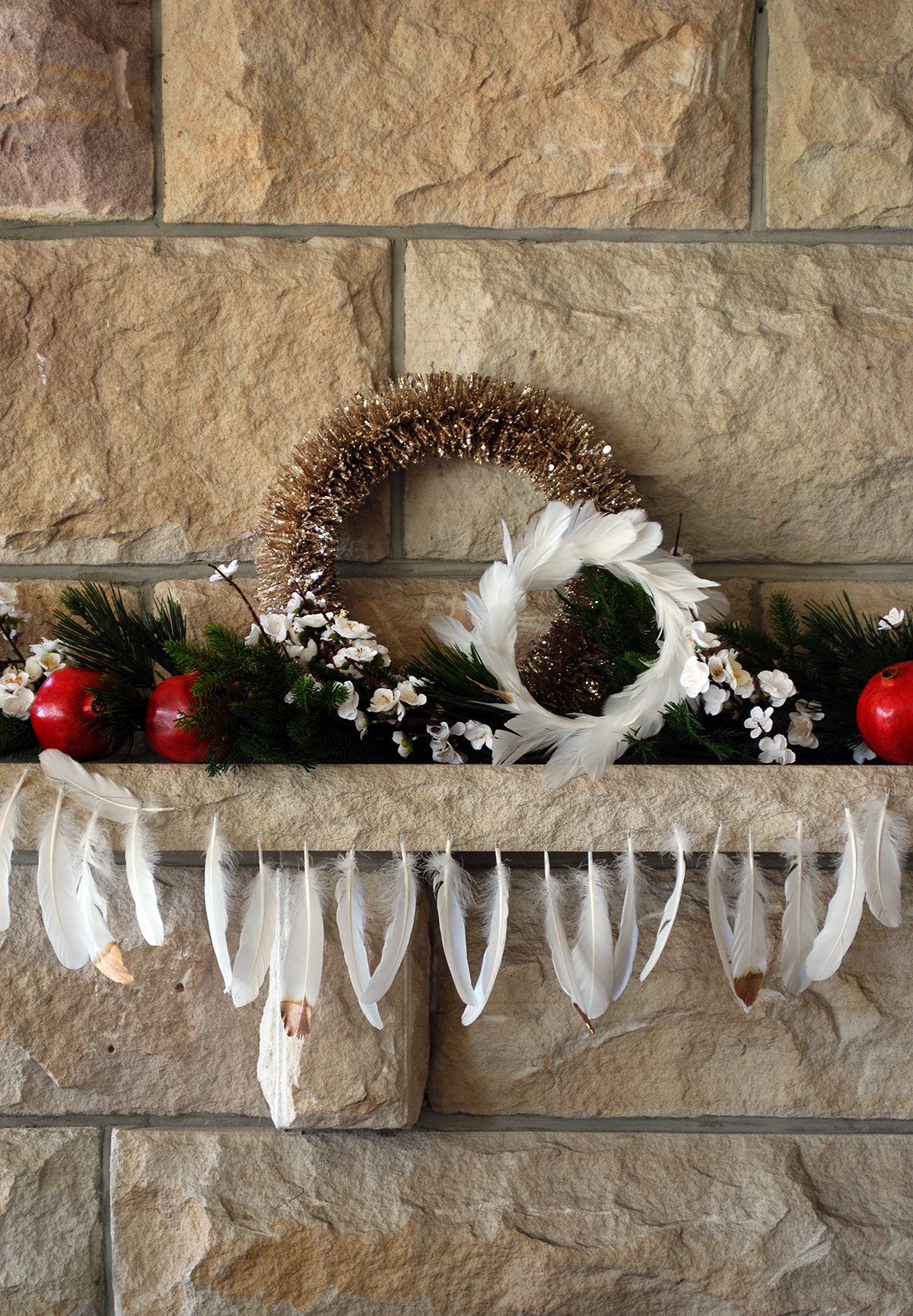 This super simple mantle arrangement is big on style and impact requires little effort.