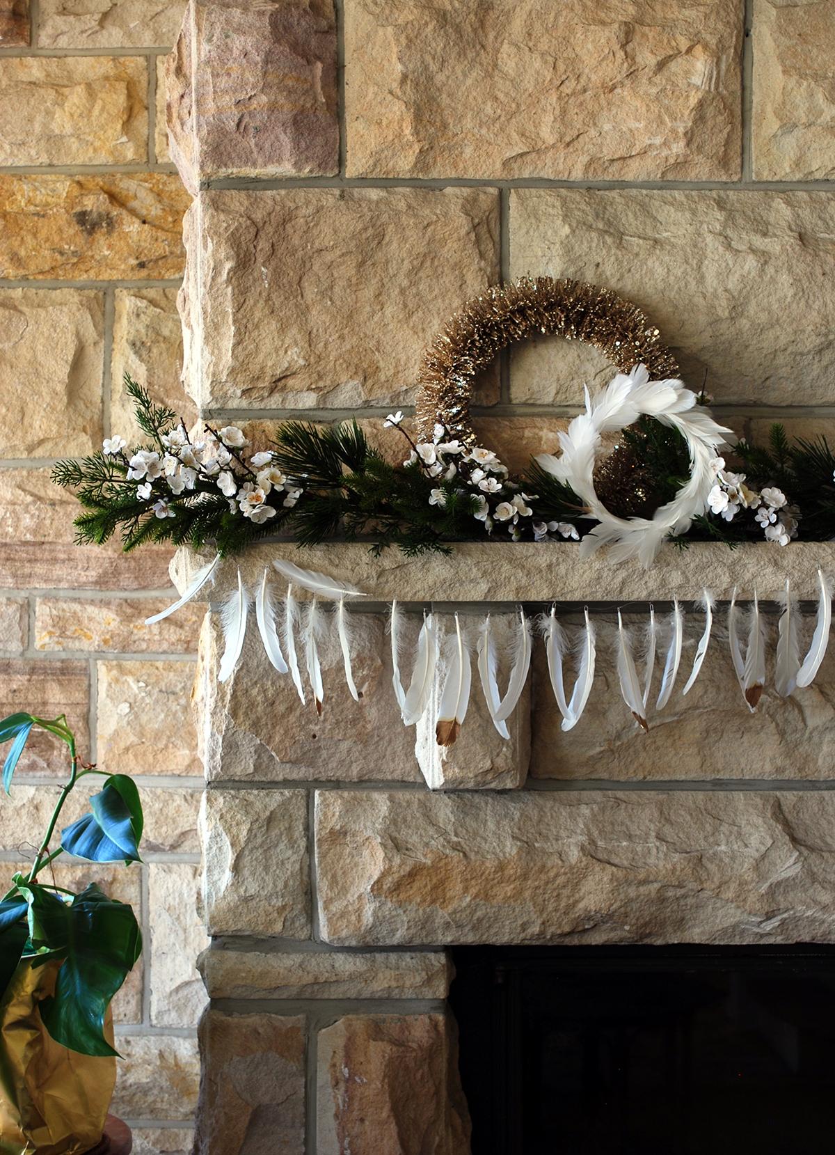 Simple modern mantle decoration