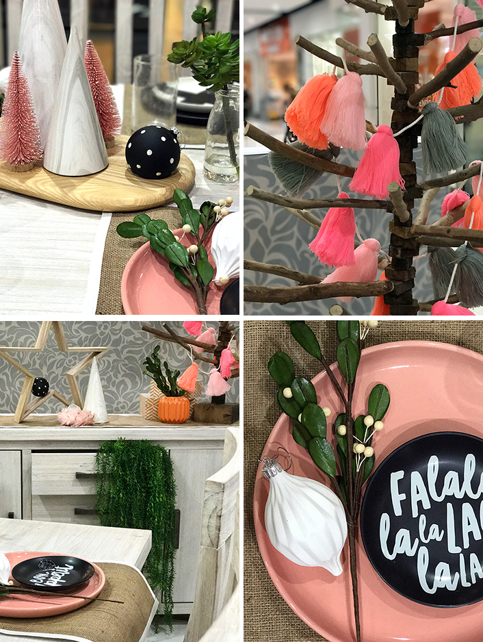 Set a modern Christmas table with unexpected colours