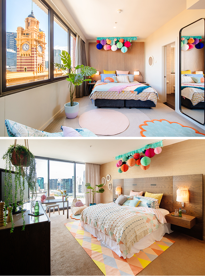 Summer Sleepover collaboration between Sage and Clare and Hilton hotels
