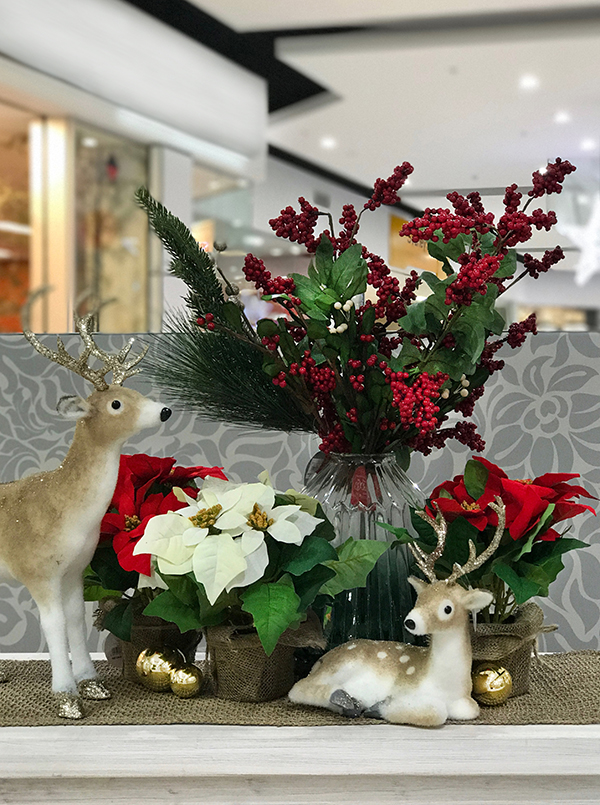 Decorating with traditional Christmas colours