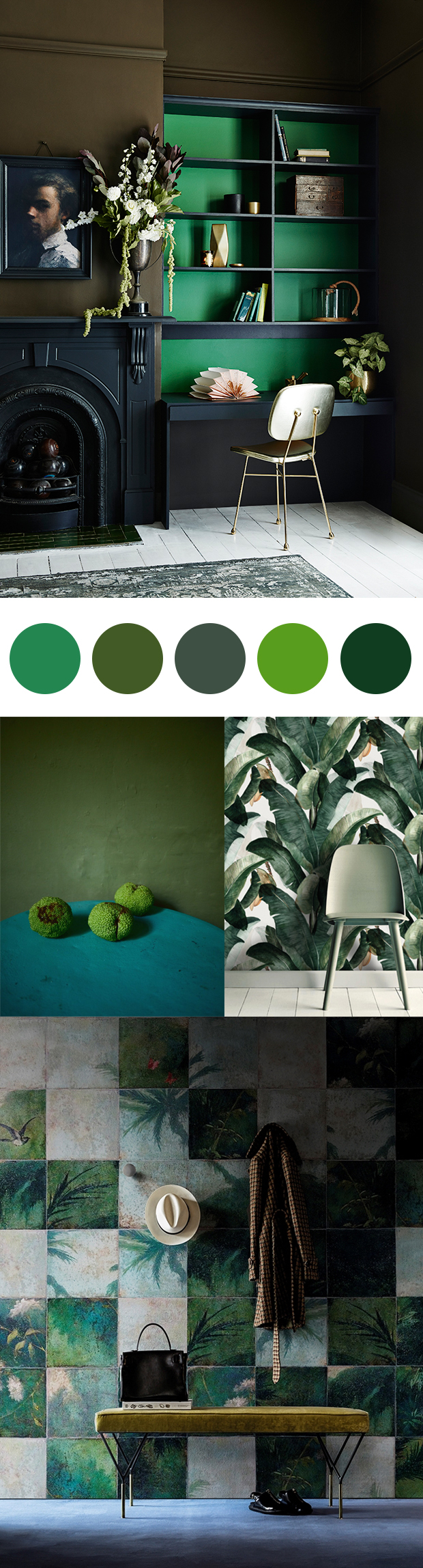 Inspired by Pantone Colour of the Year: Greenery.