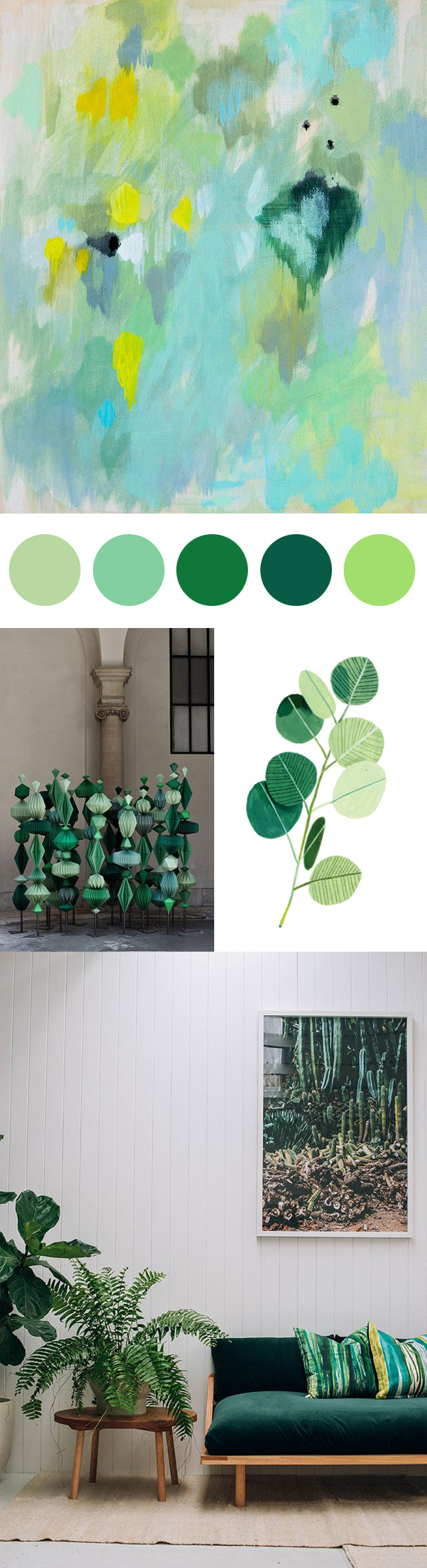 Inspired by Pantone Color of the Year: Greenery.