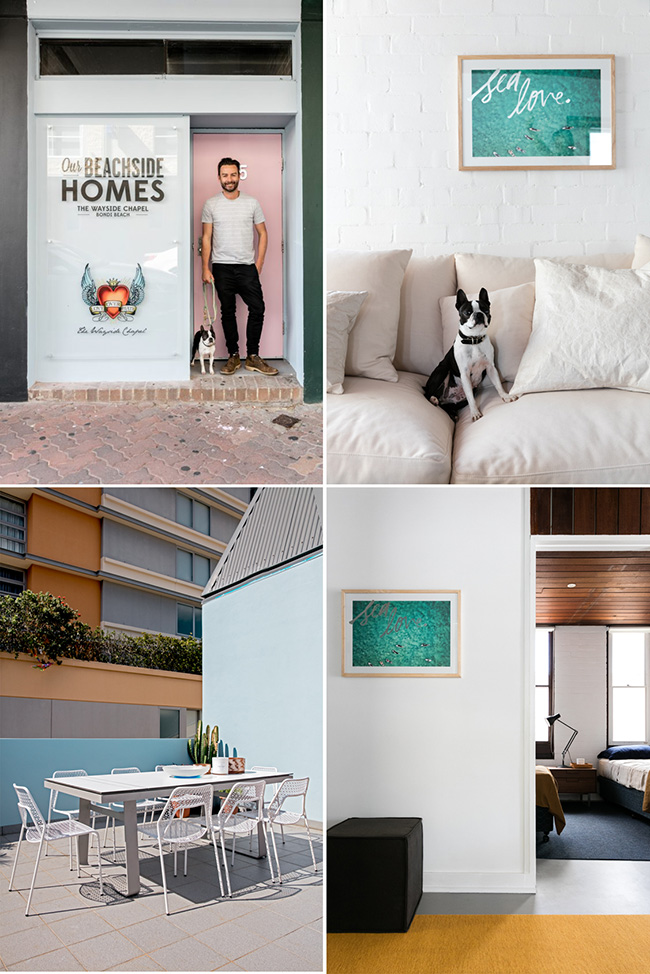 Wayside Chapel Airbnb Bondi Beach styled by Jason Grant. Photo Jacqui Turk.