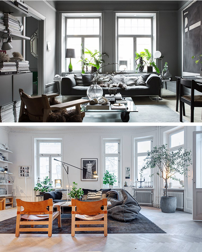 vs Scandi white on white. The home of Swedish stylist Lotta Agaton.