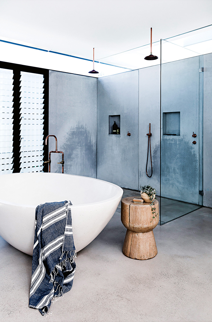 Gorgeous bathroom in an Australian beach house reno