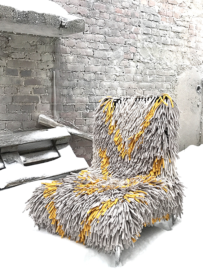 RAGAMUF chair rug fit over and transform most chairs and arm chairs.