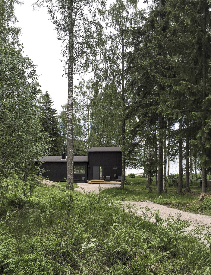 Scandinavian summer house of Minna Jones sits on a lakes edge