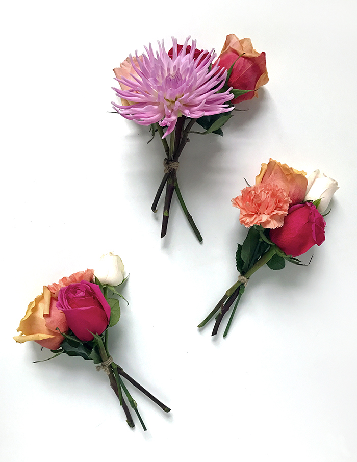 DIY fresh flower garland - step by step guide