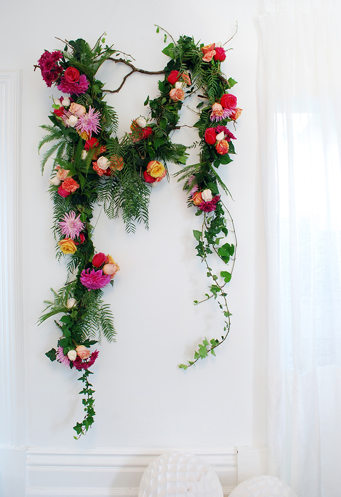 DIY Fresh Flower Garland