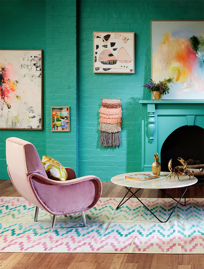 Colourful walls and fresh ways to display your Australian art