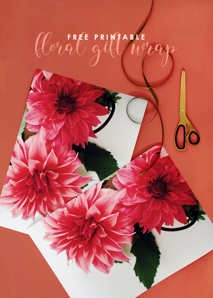 Free printable gift wrap - perfect for Mother's Day!