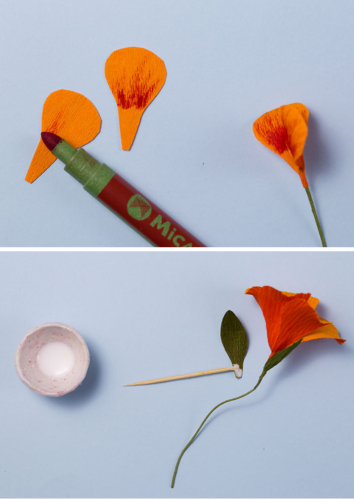 Diy paper flowers nasturtium wreath we are scout how to make paper flowers with jennifer tran of papetal mightylinksfo