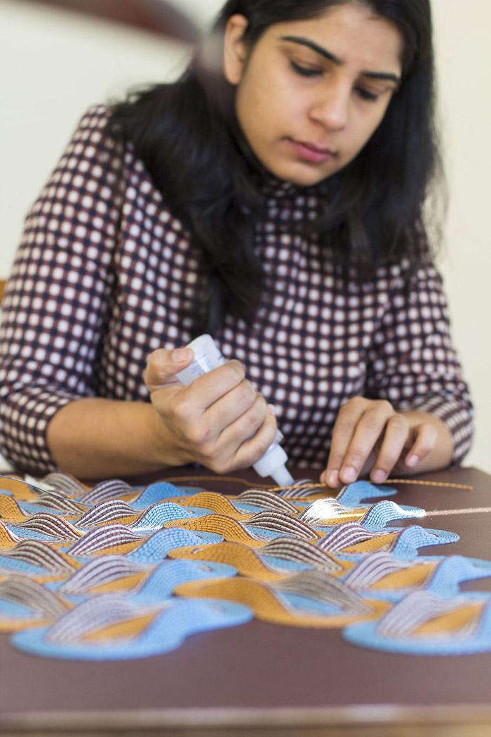 Studio visit with Australian paper artist Gunjan Aylawadi