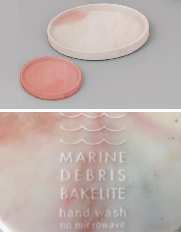 The Marine Debris Bakelite project - 100% recycled plastic