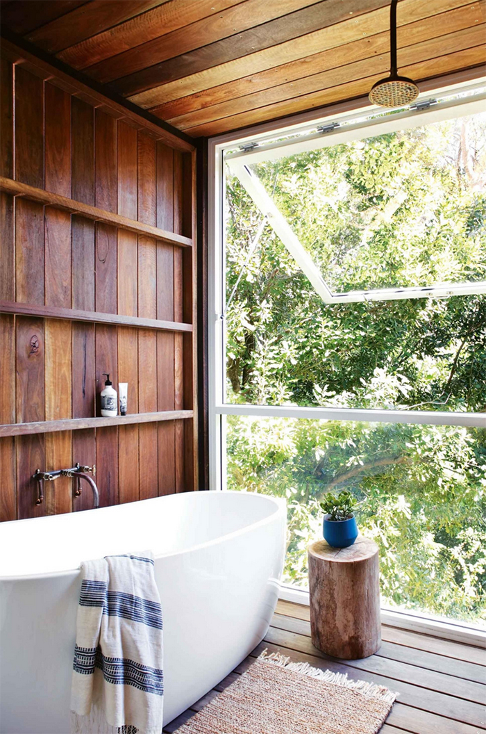 bathroom to die for - wood interiors