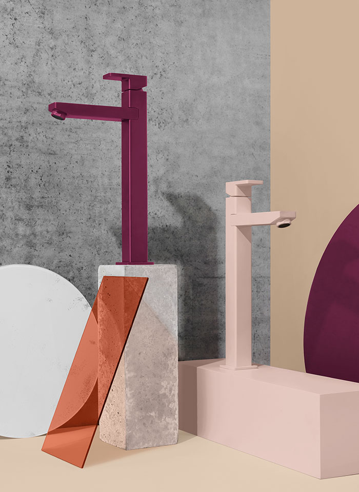 Stunning tapware in on-trend colours