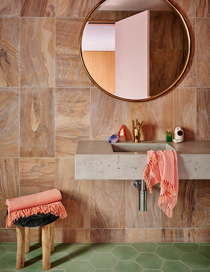 Bathroom renovation inspo - colour! texture!